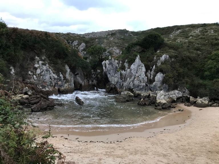 Playa Interior de Gulpiyuri. Asturias. 2.11.2019